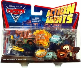 Disney / Pixar CARS 2 Movie Action Agents 2-Pack Professor Z & Mater