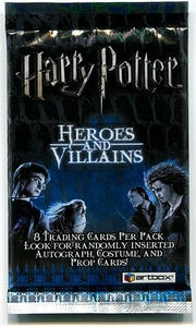 Artbox Harry Potter Trading Cards Heroes & Villains Booster Pack