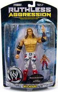 WWE Wrestling Ruthless Aggression Series 29 Action Figure Edge with Micro Aggression Figure