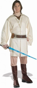 Star Wars [X-LARGE] Adults Costume Obi Wan Kenobi #16872 Lightsaber Not Included!