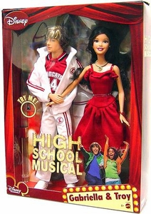 High School Musical Doll Singing Figure 2-Pack Troy & Gabriella [With Sound]