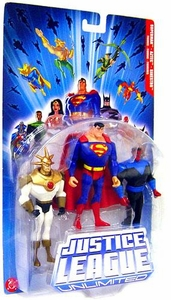 Justice League Unlimited Series 4 Action Figure 3-Pack Sinestro, Superman & Aztec