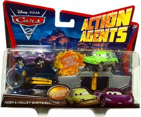 Disney / Pixar CARS 2 Movie Action Agents 2-Pack Acer & Holley Shiftwell