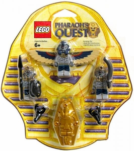LEGO Pharaoh's Quest Mummy Battle Pack Set #853176 2x Serpent Warrior Mummies, Flying Mummy & Golden Sarcophagus