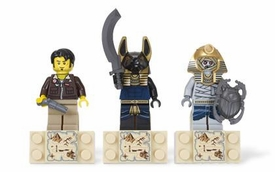 LEGO Pharaoh's Quest Magnet Set #853168 Amset-Ra, Jake Raines & Anubis Guard