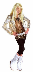 Disguise Hannah Montana Costume #7196 Hannah with Gold Jacket & Wig