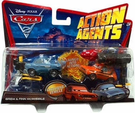 Disney / Pixar CARS 2 Movie Action Agents 2-Pack Grem & Finn McMissile