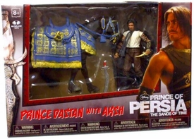 McFarlane Toys Prince of Persia 4 Inch Horse Boxed Set Prince Dastan with Aksh