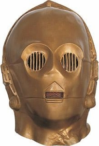 Star Wars Deluxe Costume Vinyl C-3PO Mask #2866