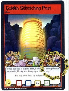 Neopets Trading Card Game Haunted Woods Holofoil Single Card #10 Golden Scratching Post