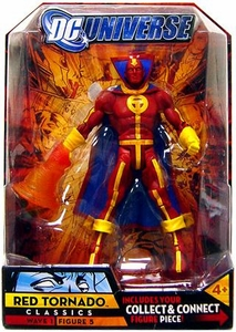 DC Universe Classics Series 1 Action Figure Red Tornado [Classic Costume] [Build Metamorpho Piece!]