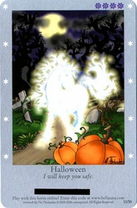 Bella Sara Horses Trading Card Game Series 1 Single Card 10/55 Halloween