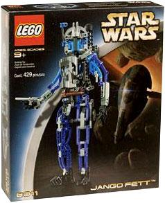 LEGO Star Wars Technic Set #8011 Jango Fett Damaged Package, Mint Contents!