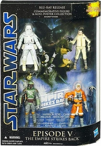 Star Wars Saga Blu-Ray Commemorative Action Figure 4-Pack Episode V The Empire Strikes Back [Luke Skywalker, Boba Fett, Princess Leia & Snowtrooper]