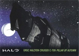 Halo Topps Base Set Single Card #22 UNSC Halcyon Cruiser C-709