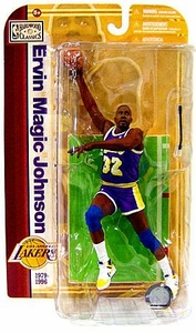 McFarlane Toys NBA Sports Picks Legends Series 5 Action Figure Magic Johnson (Los Angeles Lakers) Purple Jersey