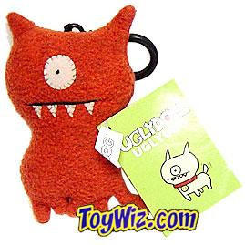 Uglydolls Plush Mini Keychain Red UglyDog