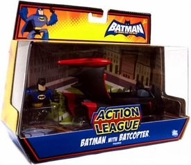 DC Batman Brave and the Bold Action League Batman with Batcopter