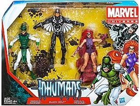 Marvel Universe 3.75 Inch Action Figure 3-Pack The Inhumans [Karnak, Black Bolt & Medusa]
