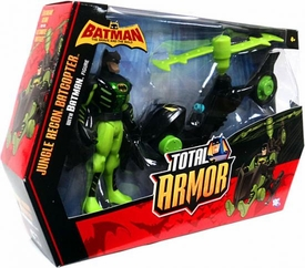 DC Batman Brave and the Bold Total Armor Vehicle & Action Figure Jungle Recon Batcopter