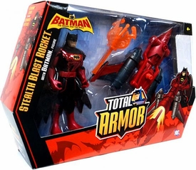 DC Batman Brave and the Bold Total Armor Vehicle & Action Figure Stealth Blast Rocket