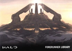 Halo Topps Base Set Single Card #47 Forerunner Library