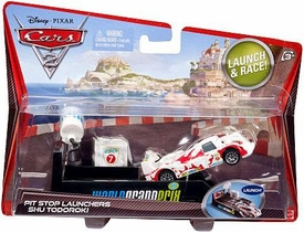 Disney / Pixar CARS 2 Movie Pit Stop Launchers with 1:55 Die Cast Car #7 Shu Todoroki