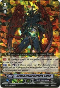 Cardfight Vanguard ENGLISH Demonic Lord Invasion Single Card Triple Rare RRR BT03-002EN Demon World Marquis, Amon