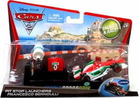 Disney / Pixar CARS 2 Movie Pit Stop Launchers with 1:55 Die Cast Car Francesco Bernoulli