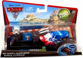 Disney / Pixar CARS 2 Movie Pit Stop Launchers with 1:55 Die Cast Car Raoul Caroule