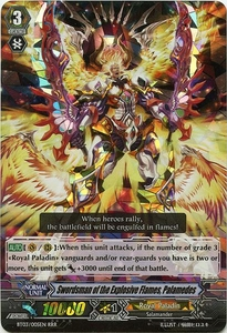 Cardfight Vanguard ENGLISH Demonic Lord Invasion Single Card Triple Rare RRR BT03-005EN Swordsman of the Explosive Flames, Palamedes