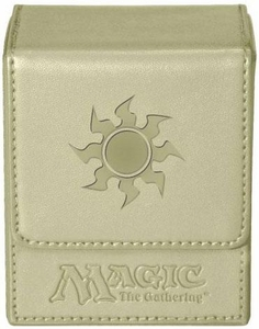 Ultra Pro Magic The Gathering White Mana Symbol Premium Flip Deck Box