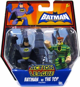 DC Batman Brave and the Bold Action League Mini Figure 2-Pack Batman Vs. The Top