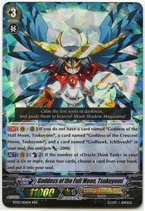Cardfight Vanguard ENGLISH Demonic Lord Invasion Single Card Triple Rare RRR BT03-006EN Goddess of the Full Moon, Tsukuyomi