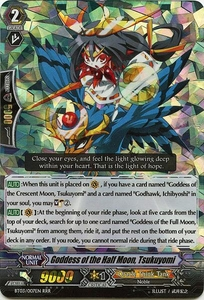 Cardfight Vanguard ENGLISH Demonic Lord Invasion Single Card Triple Rare RRR BT03-007EN Goddess of the Half Moon, Tsukuyomi