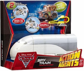 Disney / Pixar CARS 2 Movie Action Agents Vehicle Playset Spy Train