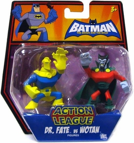 DC Batman Brave and the Bold Action League Mini Figure 2-Pack Dr. Fate Vs. Wotan