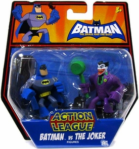 DC Batman Brave and the Bold Action League Mini Figure 2-Pack Batman Vs. The Joker