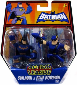 DC Batman Brave and the Bold Action League Mini Figure 2-Pack Owlman & Blue Bowman
