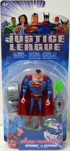 Justice League Action Figure Cyber Trakkers Superman Vs Kryptobot