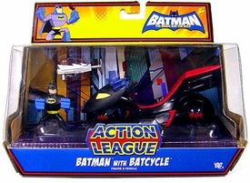 DC Batman Brave and the Bold Action League Mini Figure Set Batman with Batcycle