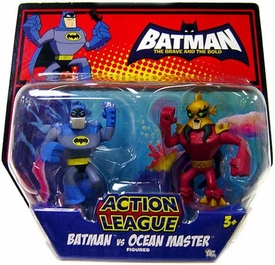 DC Batman Brave and the Bold Action League Mini Figure 2-Pack Batman Vs. Ocean Master