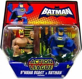 DC Batman Brave and the Bold Action League Mini Figure 2-Pack B'wana Beast & Batman