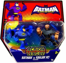 DC Batman Brave and the Bold Action League Mini Figure 2-Pack Batman Vs. Kanjar Ro