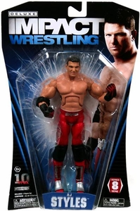 TNA Wrestling Deluxe Impact Series 8 Action Figure AJ Styles