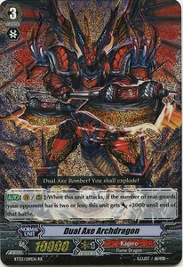 Cardfight Vanguard ENGLISH Demonic Lord Invasion Single Card Double Rare RR BT03-019EN Dual Axe Archdragon