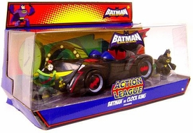 DC Batman Brave and the Bold Action League Mini Figure Set Batman vs. Clock King [Includes Batmobile]