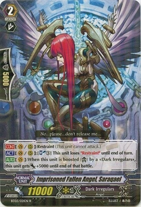 Cardfight Vanguard ENGLISH Demonic Lord Invasion Single Card Rare BT03-021EN Imprisoned Fallen Angel, Saraqael