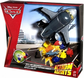 Disney / Pixar CARS 2 Movie Action Agents Vehicle Playset Spy Jet Getaway [Includes Siddeley!]