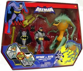DC Batman Brave and the Bold Action Figure Set Batman Vs. Alien [Clash in the Cosmos]